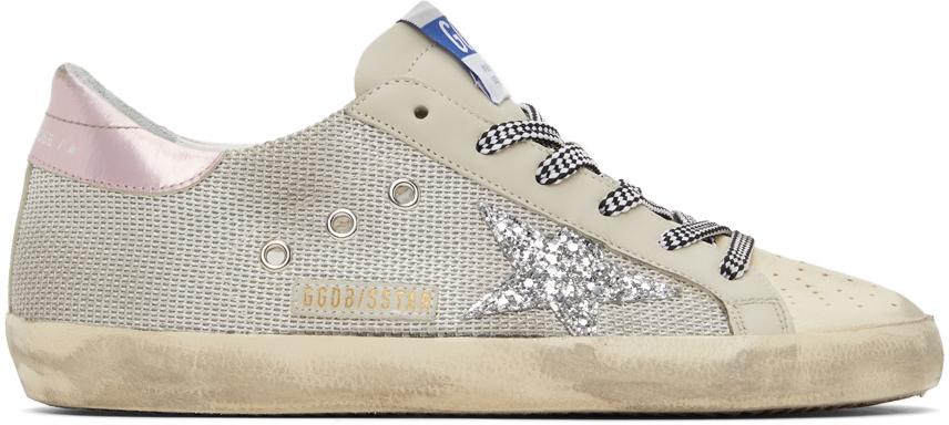 Golden Goose Mesh Super-Star Sneakers