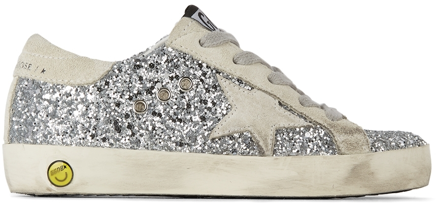 Golden Goose Kids Silver Super-Star Classic Sneakers