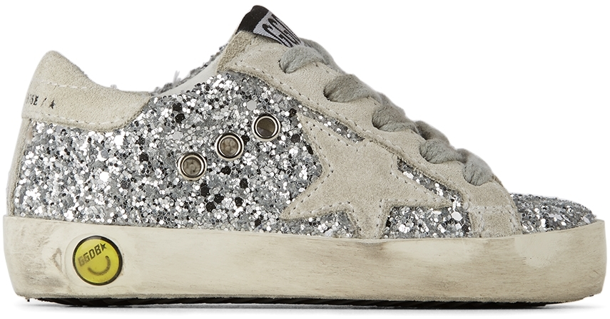 Golden Goose Baby Silver Glitter Super-Star Classic Sneakers