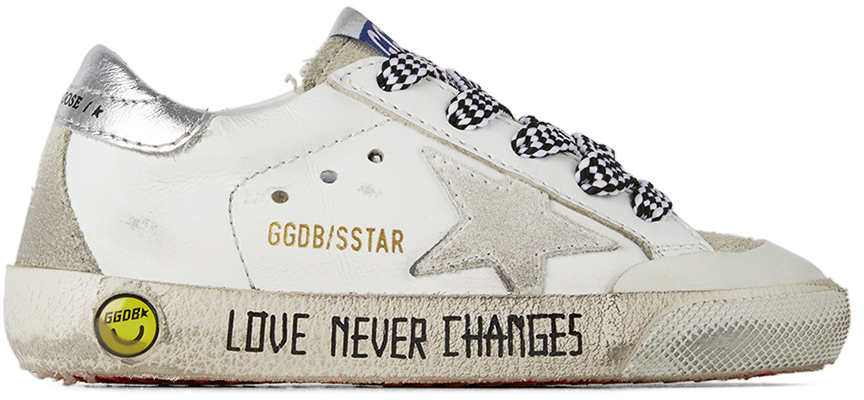 Golden Goose Baby White & Silver Super-Star Penstar Classic Spur Sneakers