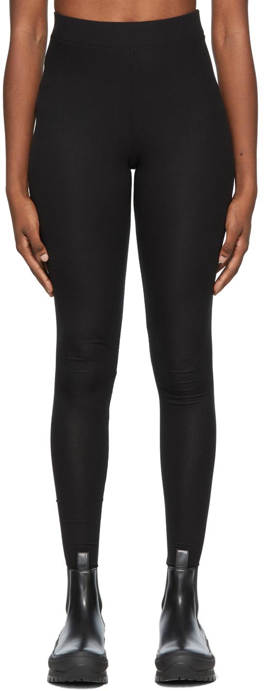 Black Rib Giudea Leggings