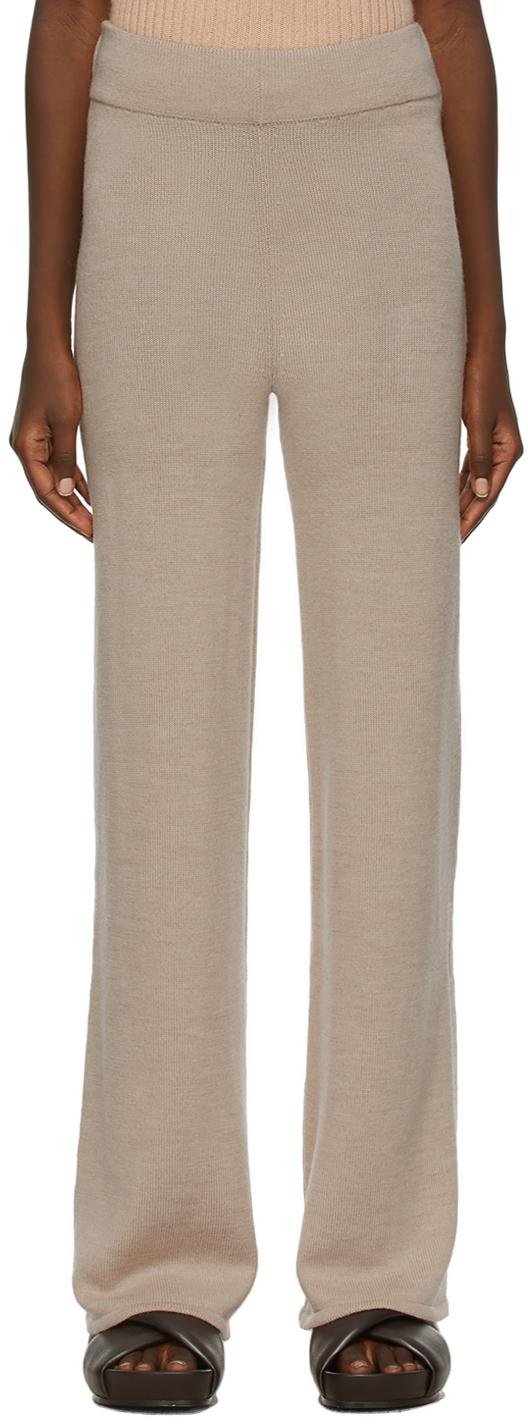 Beige Wool Lalla Lounge Pants