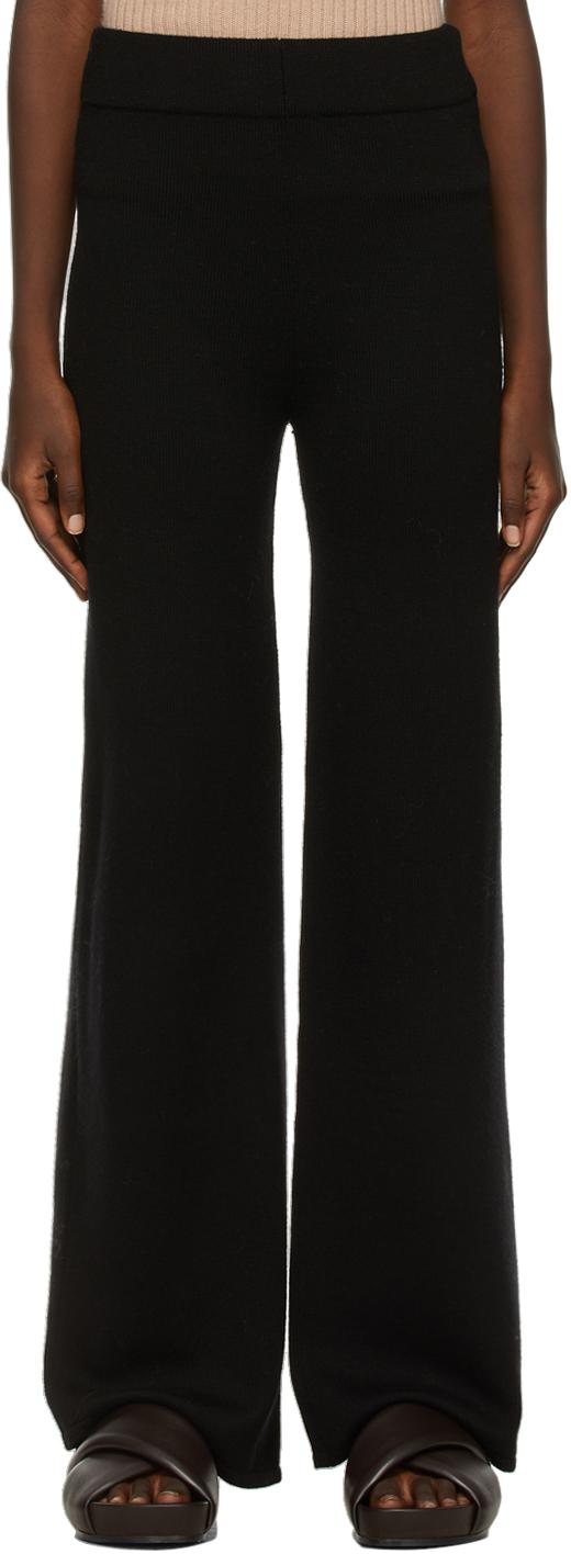 Black Wool Lalla Lounge Pants
