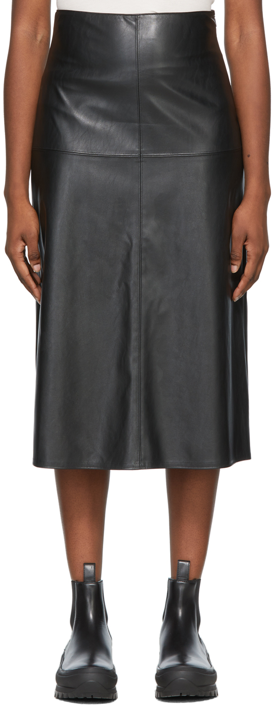 Black Faux-Leather Carioca Skirt