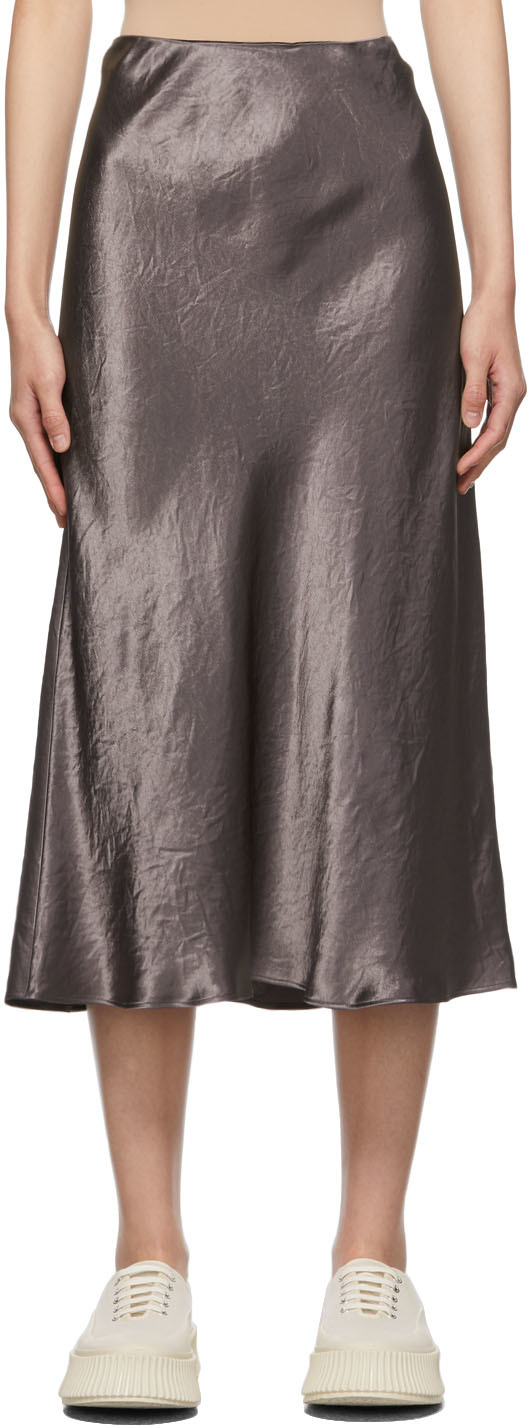 Purple Satin Alessio Skirt