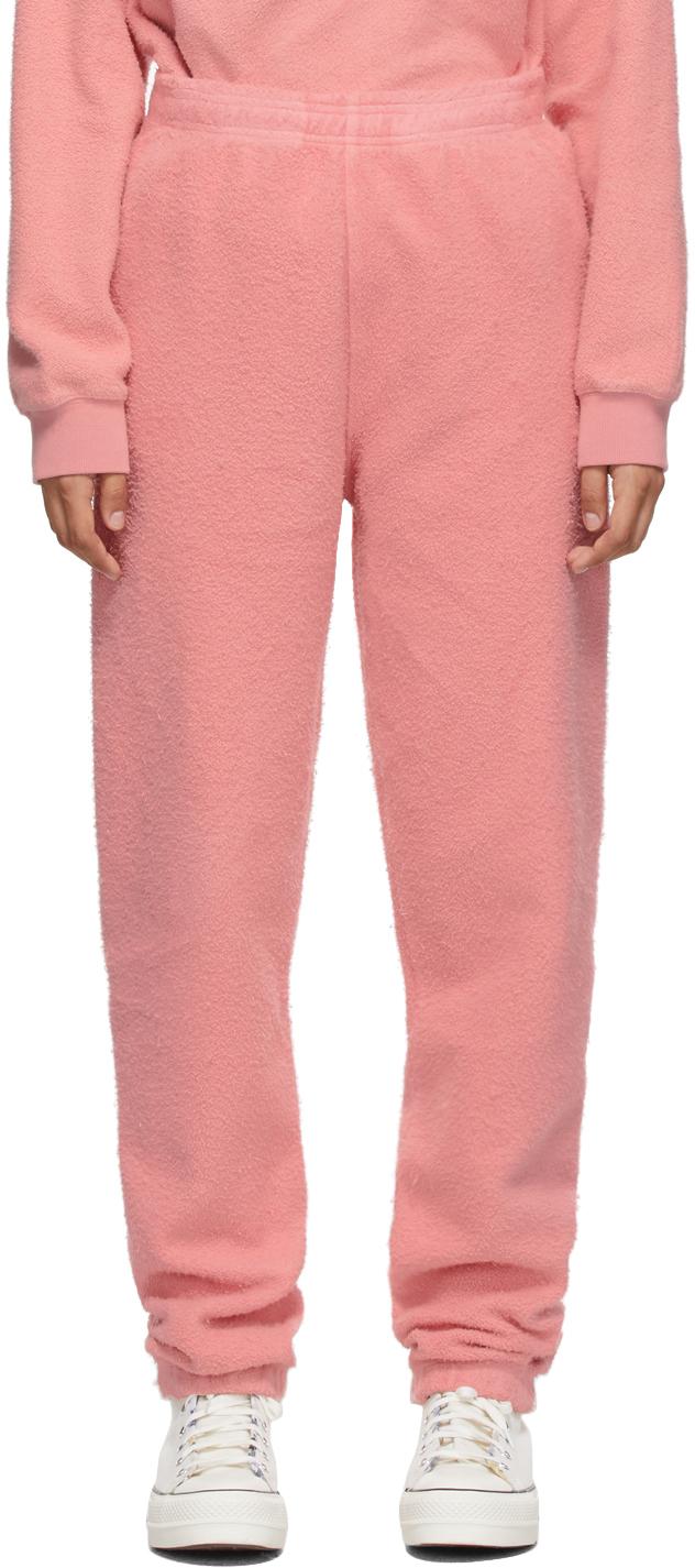 Pink Reverse Fleece Lounge Pants
