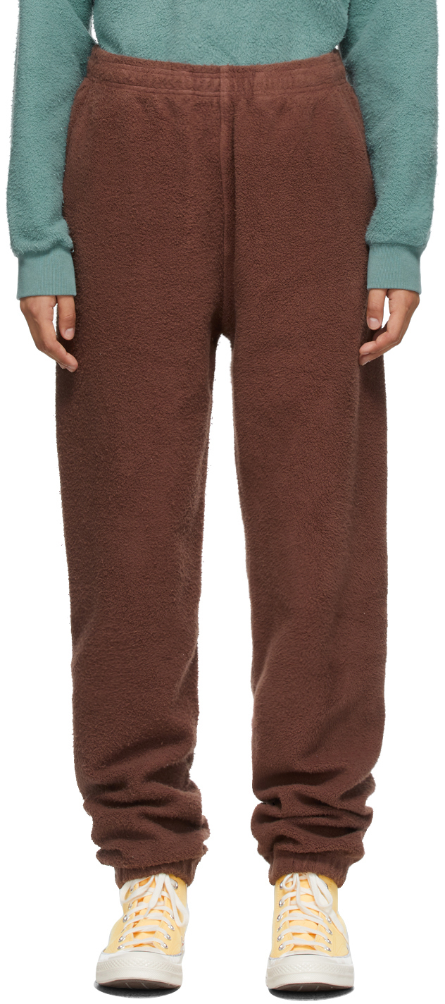 Brown Reverse Fleece Lounge Pants