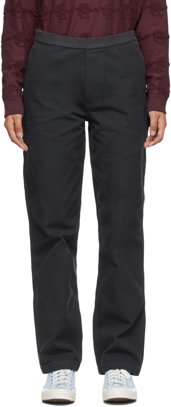 Black Hard Ware/Soft Wear Carpenter Trousers