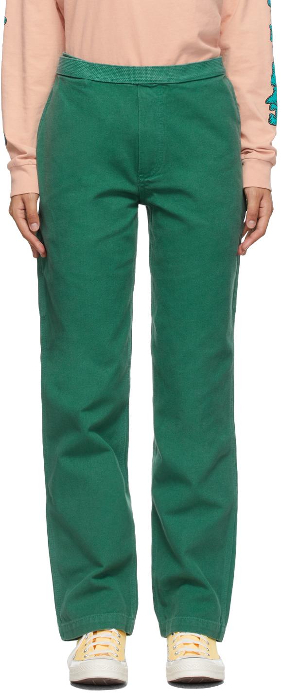 Green Hard Ware/Soft Wear Carpenter Trousers