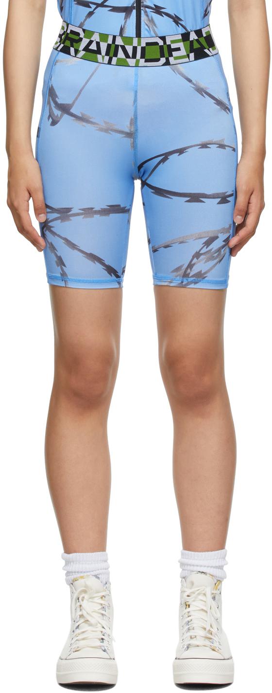 Blue Razor Cycle Shorts