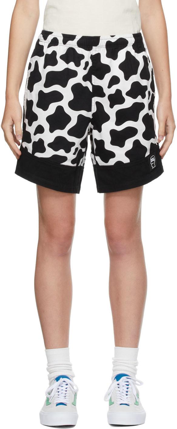 Black Cow Dress Shorts