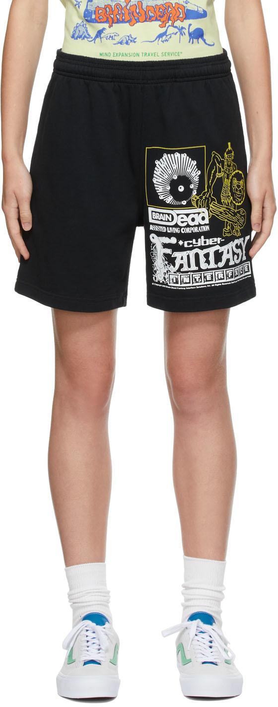 Black Heavyweight 'Cyber Fantasy' Shorts