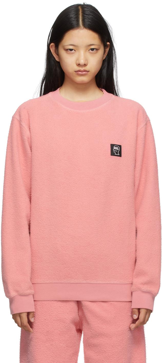 Pink Reverse Fleece Sweatshirt