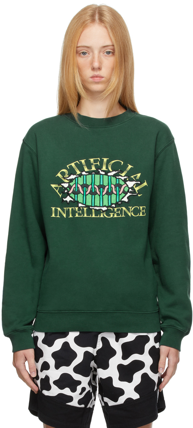 Green 'Artificial Intelligence' Sweatshirt