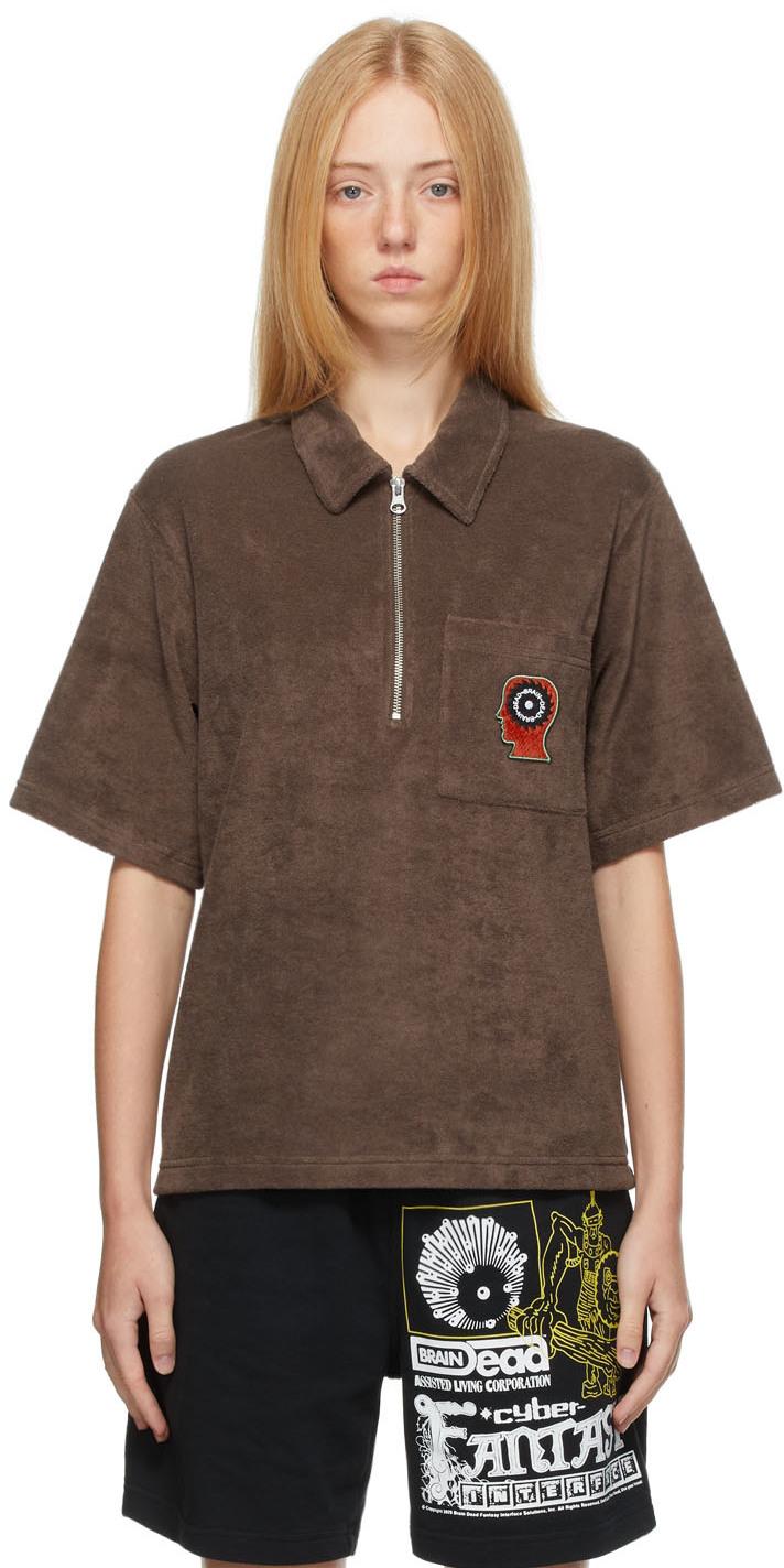 Brown Racing Shirt