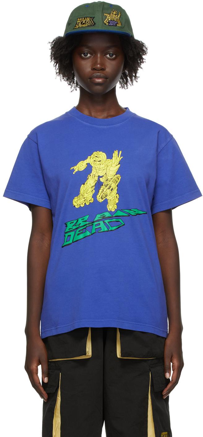 SSENSE Exclusive Blue Them Skates Edition Blaster T-Shirt