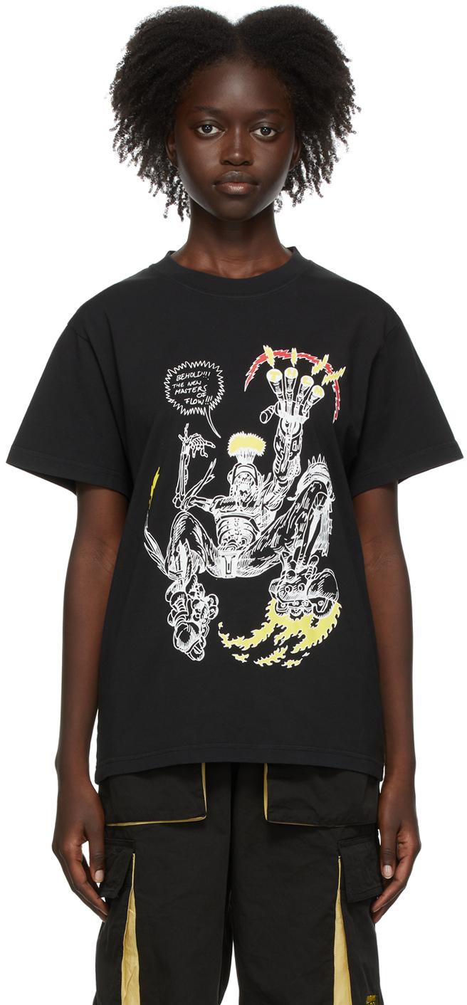 SSENSE Exclusive Black Them Skates Edition 'Masters Of Flow' T-Shirt