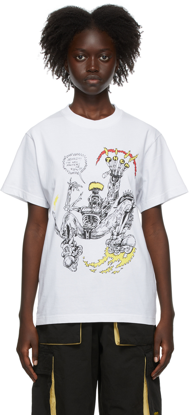 SSENSE Exclusive White Them Skates Edition 'Masters Of Flow' T-Shirt