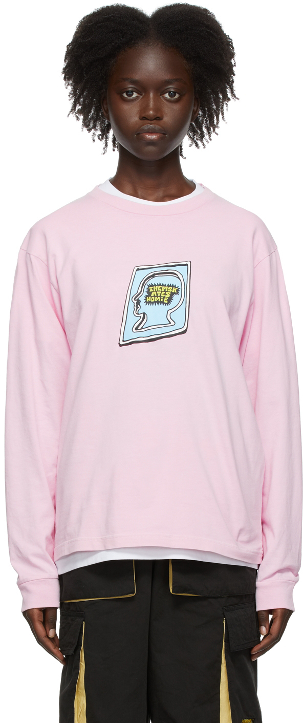 SSENSE Exclusive Pink Them Skates Edition Homie Long Sleeve T-Shirt