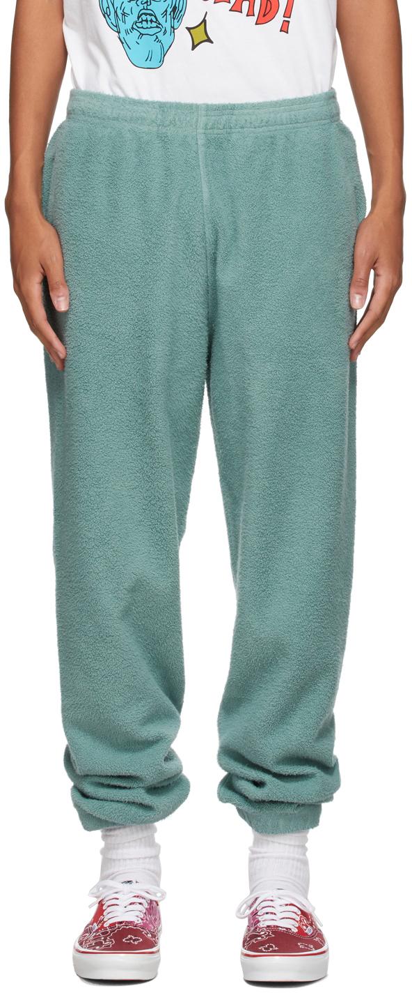 Green Reverse Fleece Lounge Pants