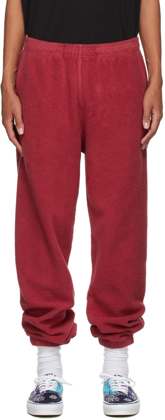 Burgundy Reverse Fleece Lounge Pants