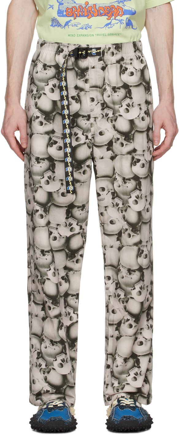Grey Skulls Climber Trousers