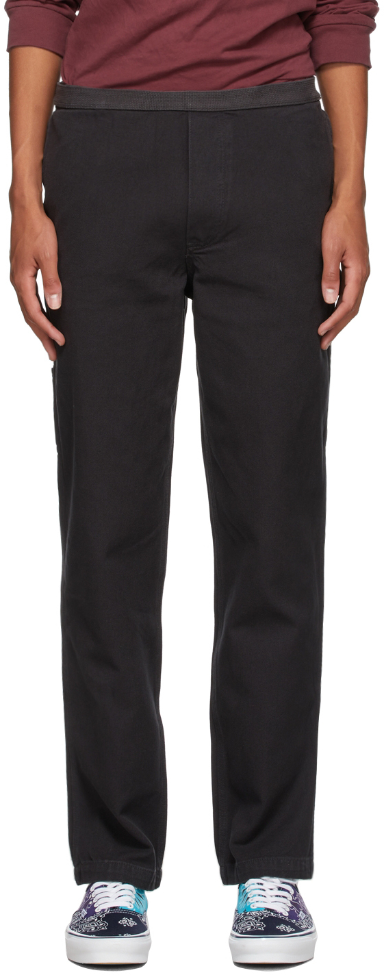 Black Hardware Soft Wear Carpenter Trousers