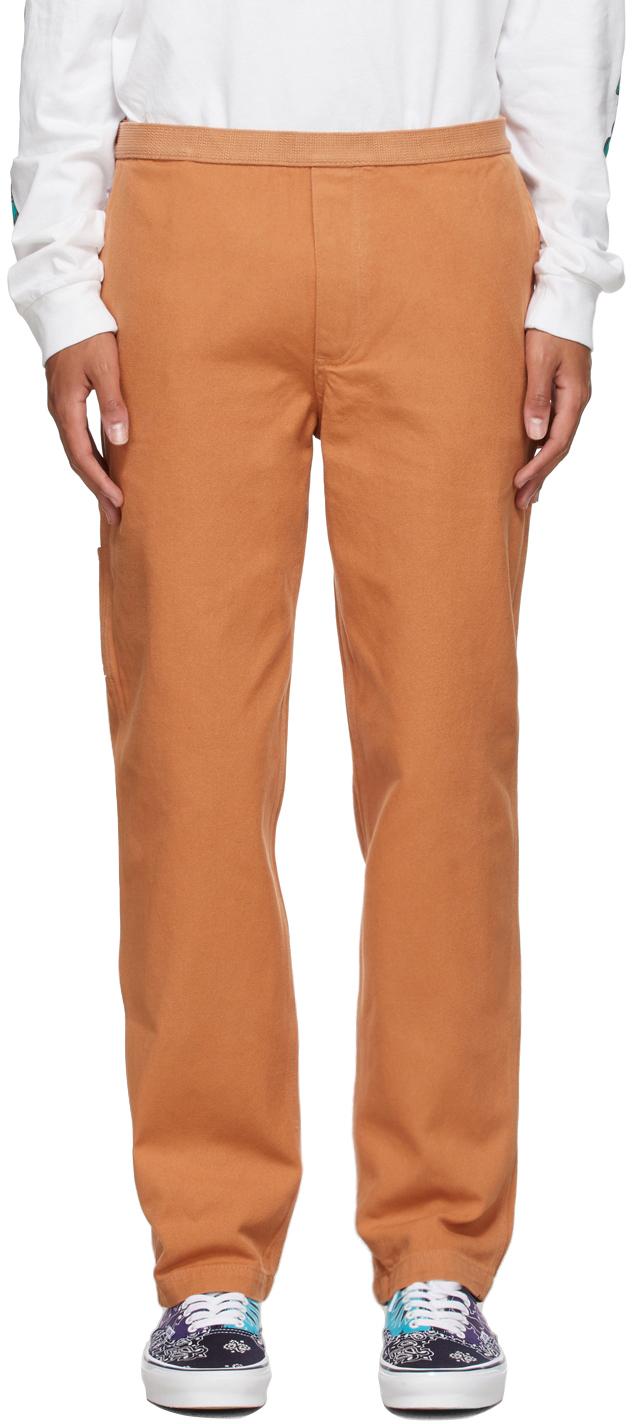 Orange Hardware Soft Wear Carpenter Trousers