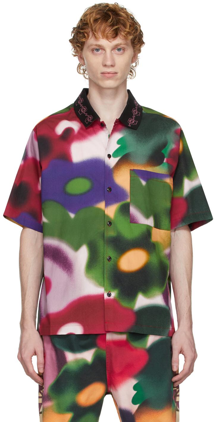 Multicolor Poplin Short Sleeve Shirt