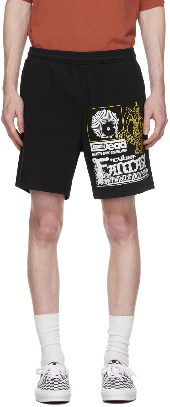 Black 'Cyber Fantasy' Shorts
