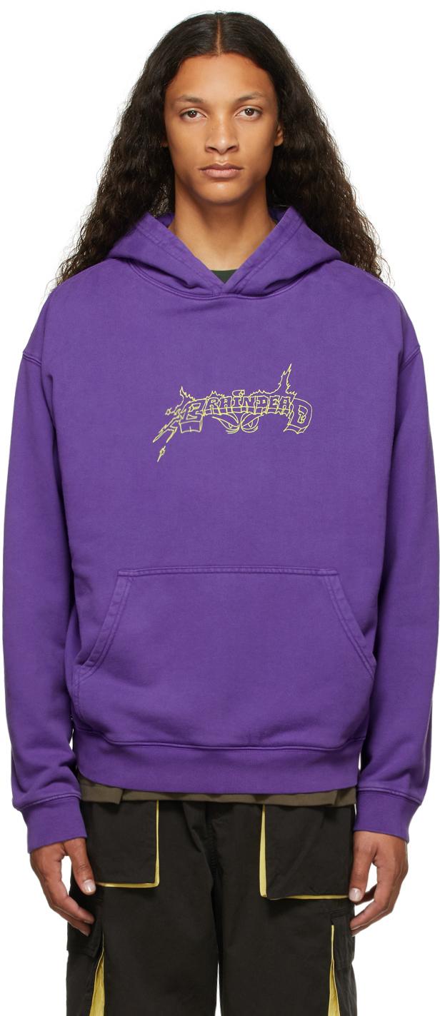 SSENSE Exclusive Purple Them Skates Edition Shred Technology Hoodie