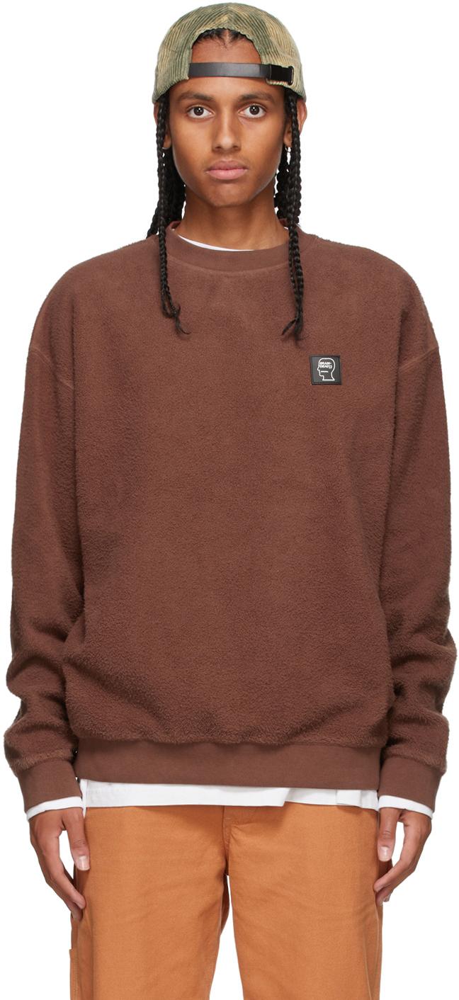 Brown Reverse Fleece Sweatshirt