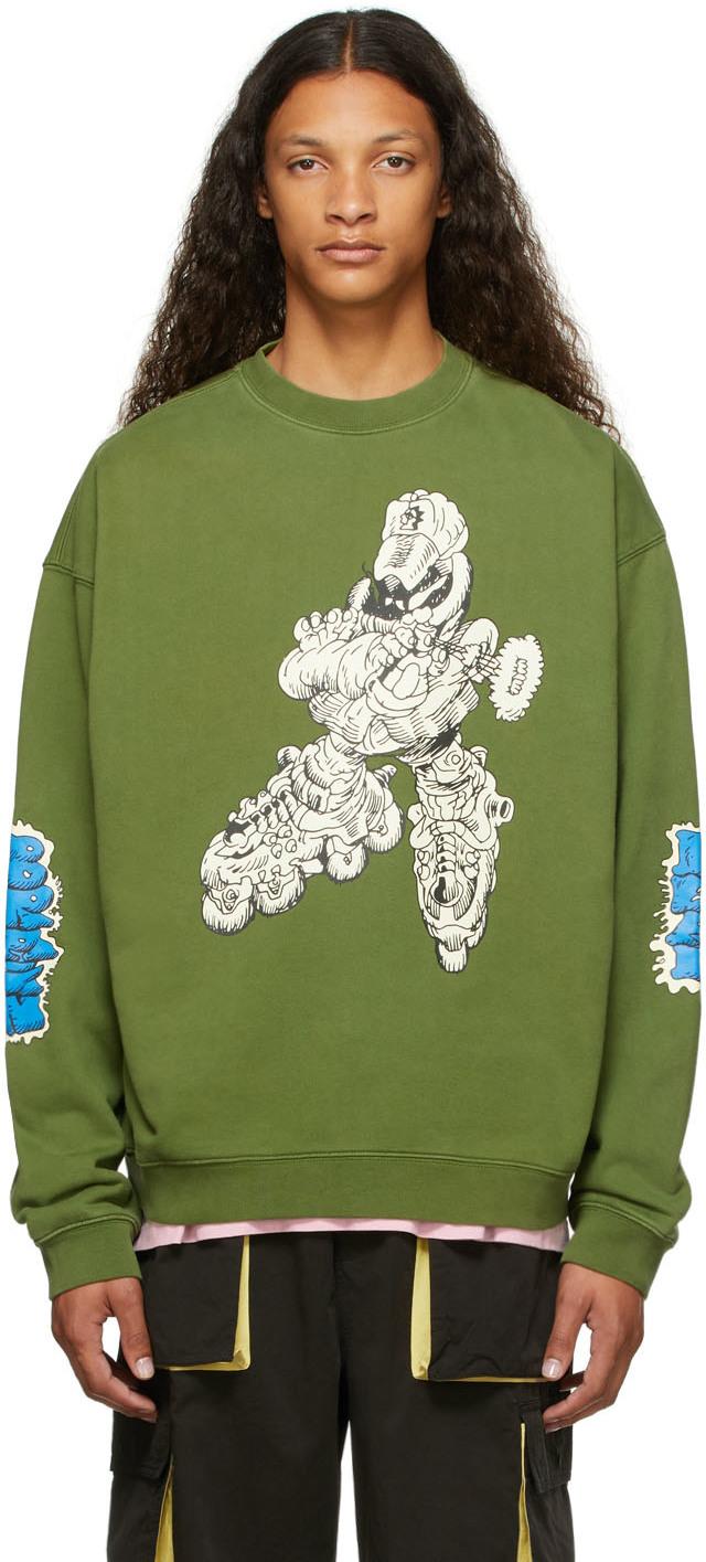 SSENSE Exclusive Green Them Skates Edition Blade Enforcer Sweatshirt