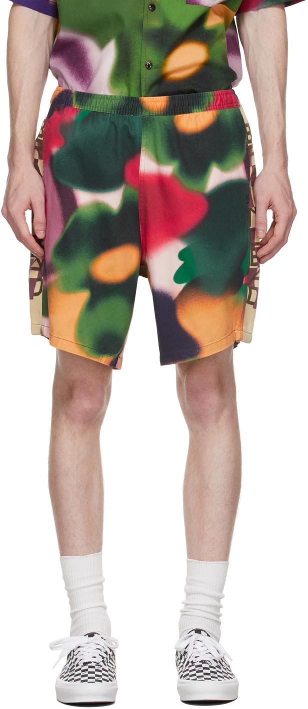 Multicolor Cotton Beach Swim Shorts