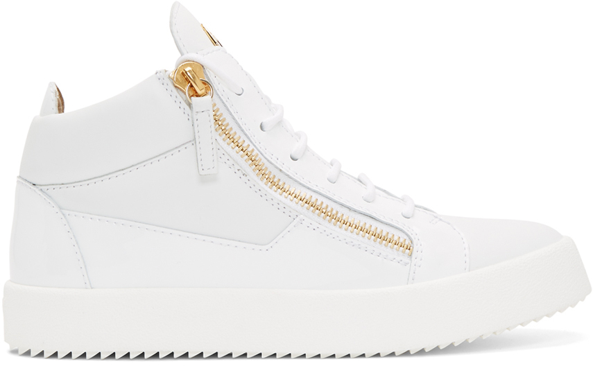 White Kriss High-Top Sneakers