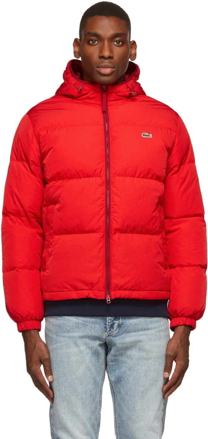 Red Down Lightweight Puffer Jacket