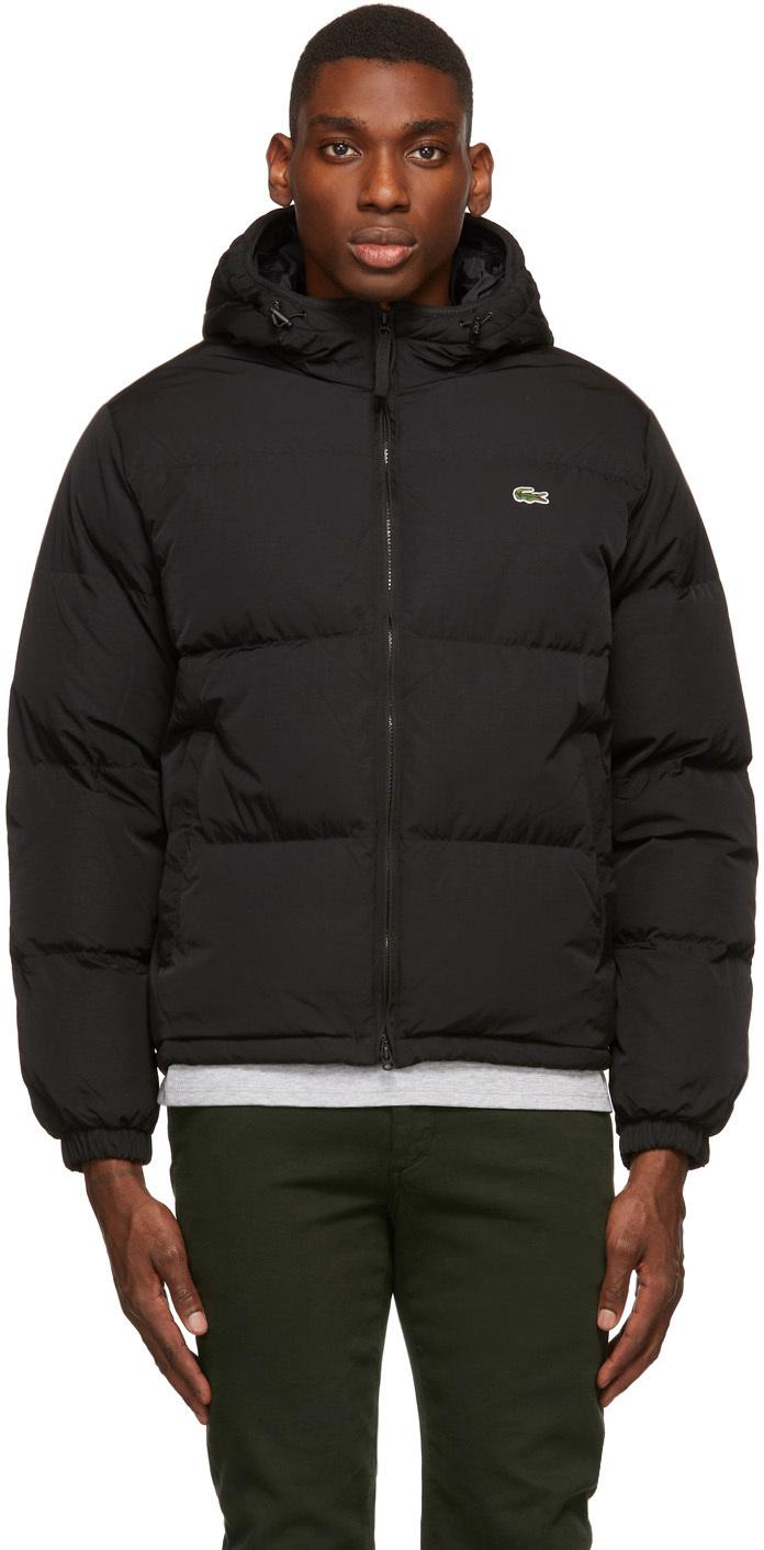 Black Down Lightweight Puffer Jacket