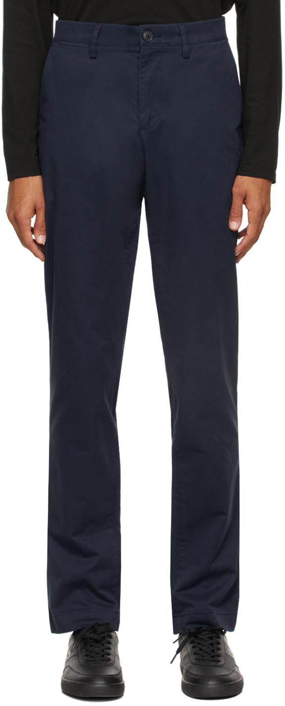 Navy Gabardine Chino Slim Fit Trousers