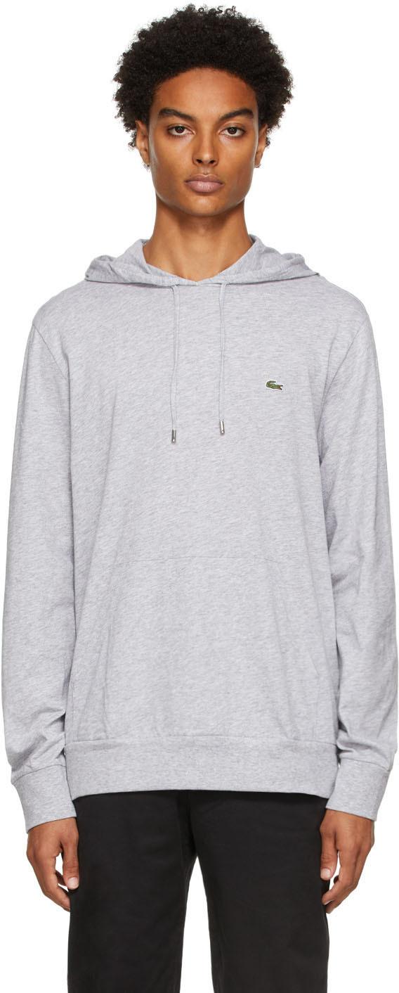 Grey Cotton Jersey Hoodie
