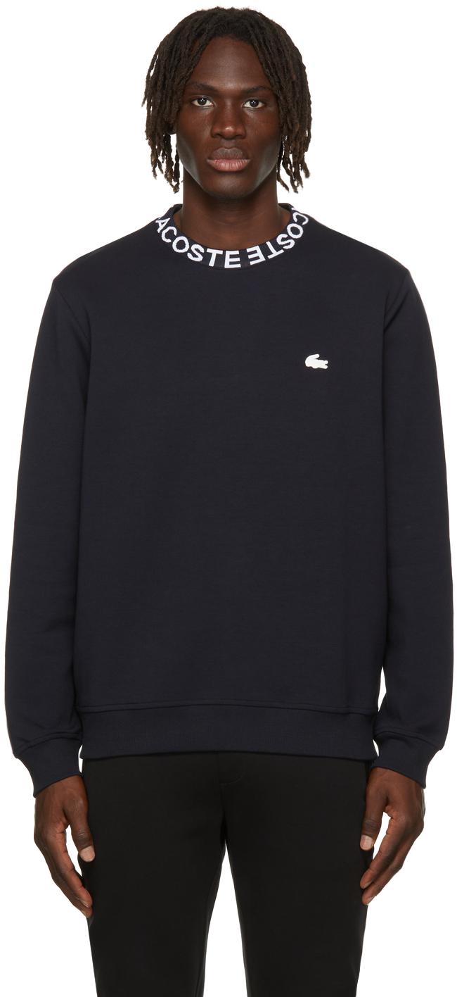 Navy Logo Collar Sweatshirt