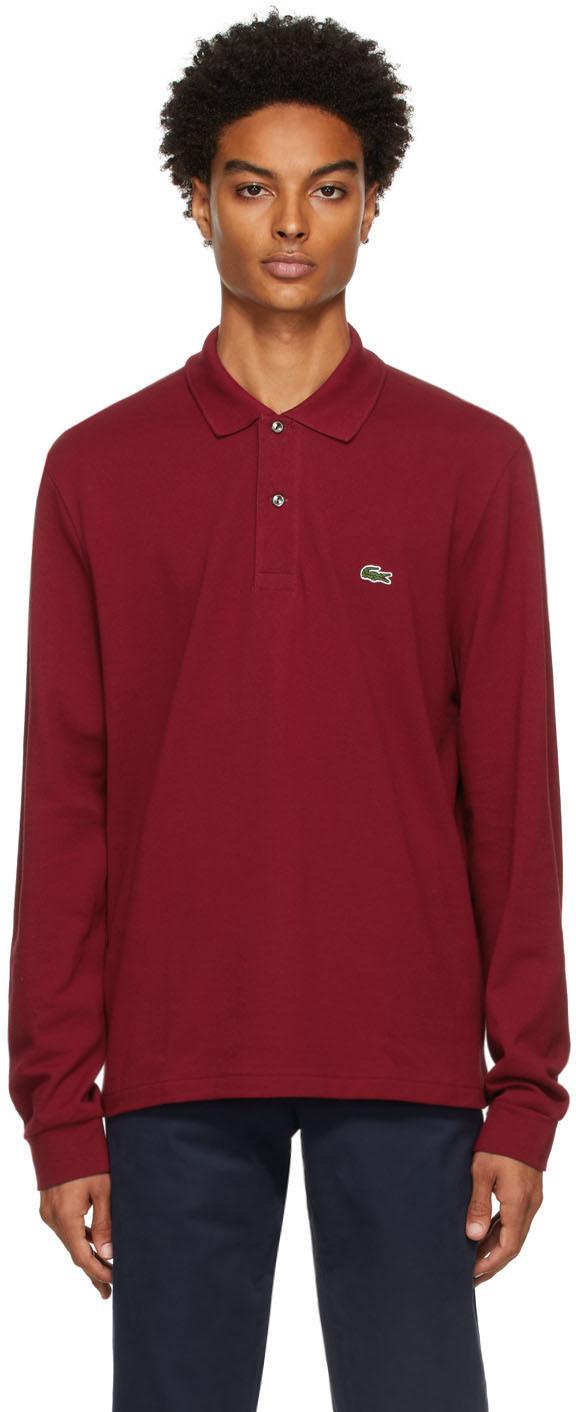 Red Classic Piqué Long Sleeve Polo