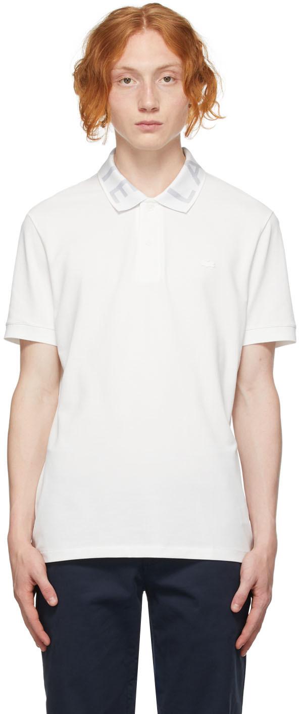 White Logo Collar Polo