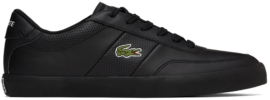 Black Leather Court-Master Sneakers