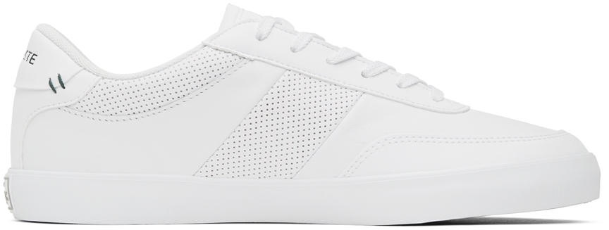 White Leather Court-Master Trainer Sneakers