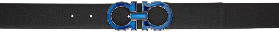 Reversible Black & Navy Gancini Belt