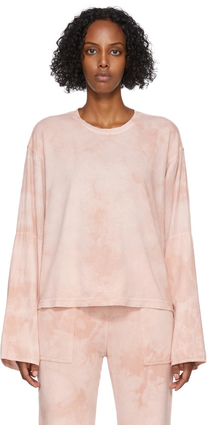 Pink Tie-Dye Phoebe Sleeve Crewneck