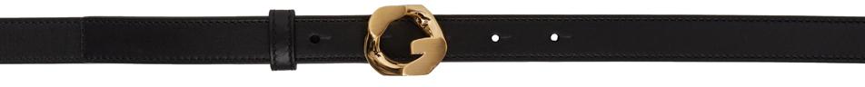 Black Thin G Chain Buckle Belt