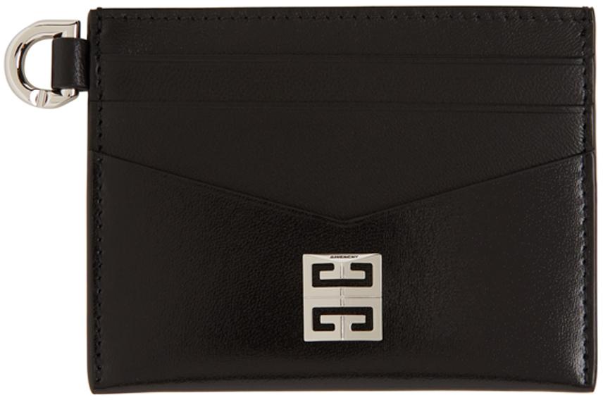 Black Calfskin 4G Card Holder
