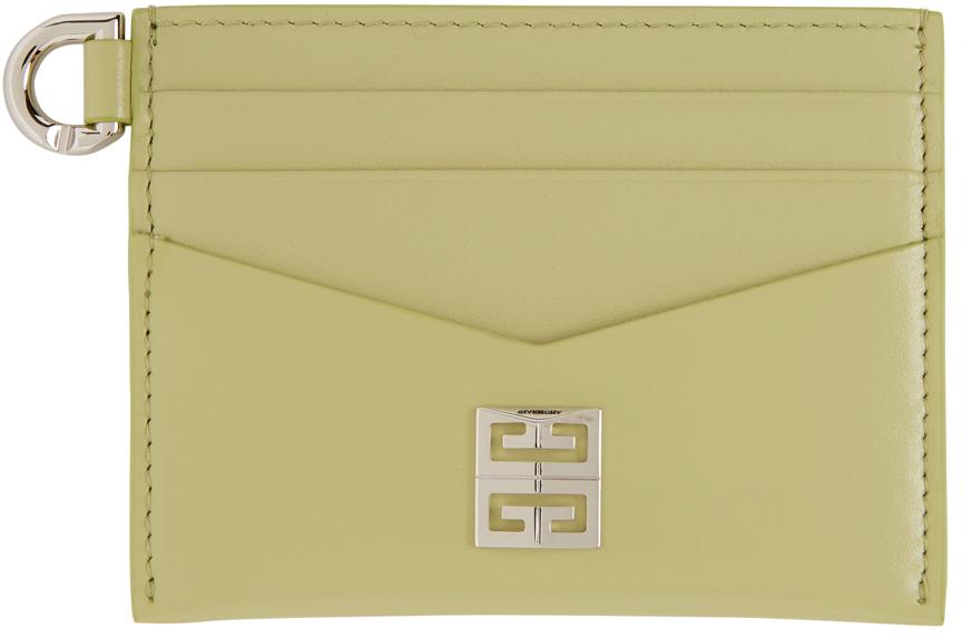 Green Calfskin 4G Card Holder
