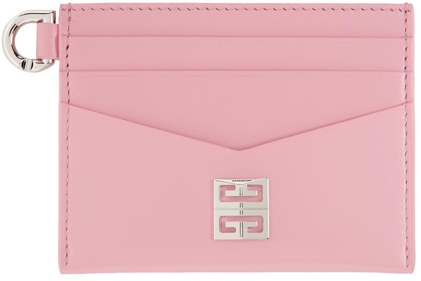 Pink Calfskin 4G Card Holder